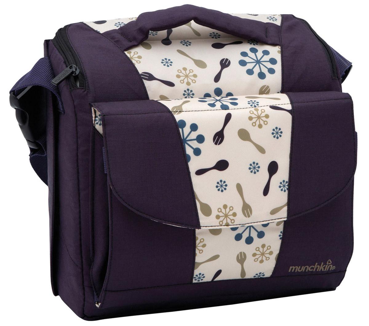Munchkin Дорожный стульчик для кормления цвет фиолетовый бежевый -  Все для детского кормления