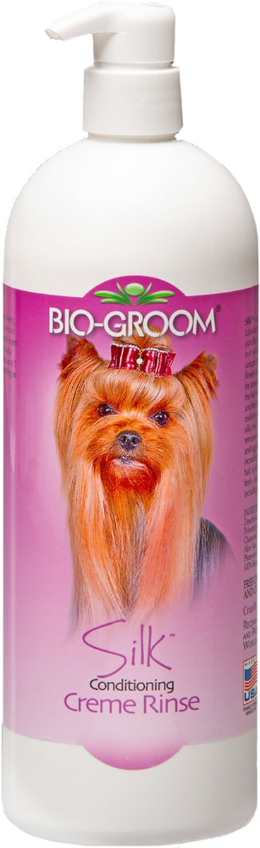 Шелковый кондиционер Bio-Groom Silk Condition, 946 мл капли bio groom ear mite treatment от ушного клеща для кошек и собак 30мл 14001