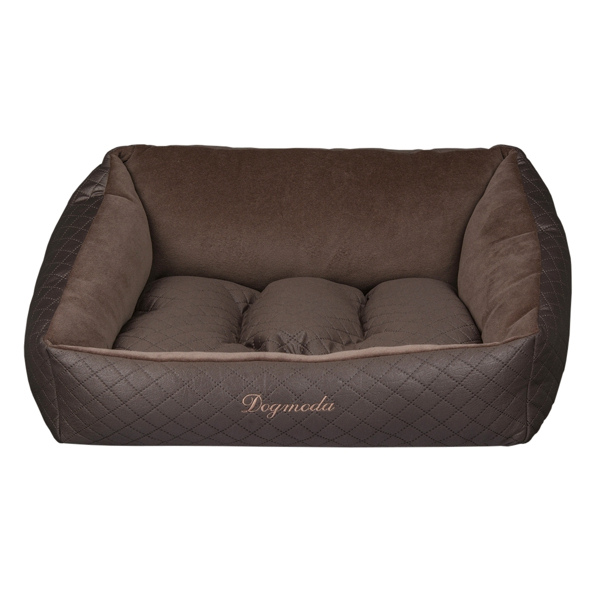 Лежак для животных Dogmoda Шоколад, 61 х 61 х 21 см лежак дарэлл хантер лось 2 с подушкой 55 40 16см