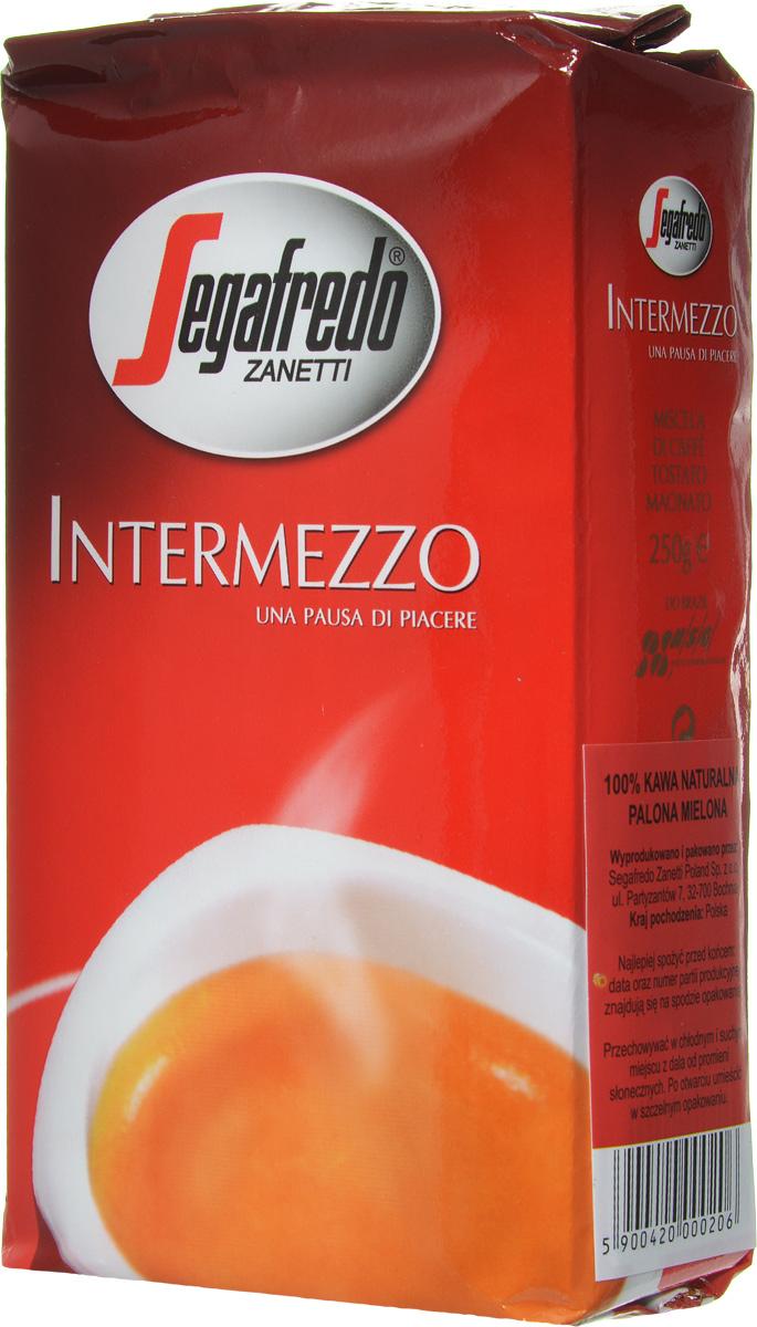Segafredo Intermezzo кофе молотый, 250 г segafredo le origini peru кофе молотый 250 г