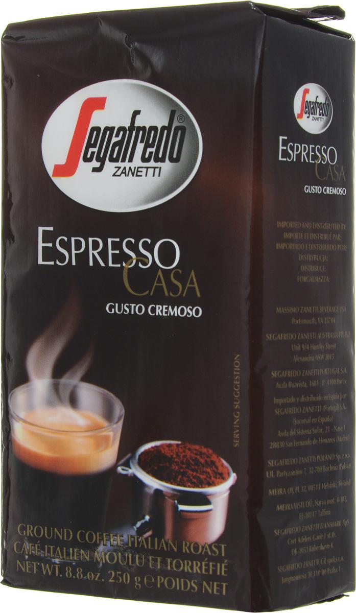 Segafredo Espresso Casa кофе молотый, 250 г401.001.004Кофе Segafredo Espresso Casa создан профессионалами кофе, которые подготовили сбалансированную смесь высшего сорта Арабики и Робусты, придающую напитку насыщенный сливочный вкус и интенсивный аромат. В точности как эспрессо из настоящей итальянской кофейни.