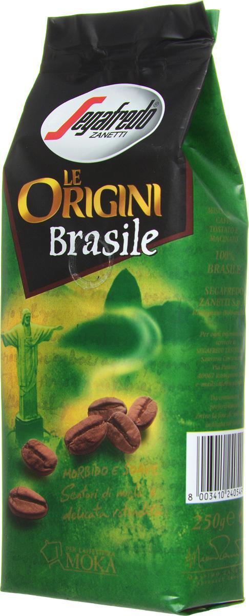 Segafredo Le Origini Brasile кофе молотый, 250 г401.001.023Segafredo Le Origini Brasile характеризуют нежные нотки меда и мягкий обволакивающий вкус. Кофе производится на крупнейшей кофейной плантации в мире Носа-Сеньора-да-Гия - самого сердца штата Минас-Жерайс. Это напиток с превосходным сочетанием мягкого вкуса и тонкого медового аромата.