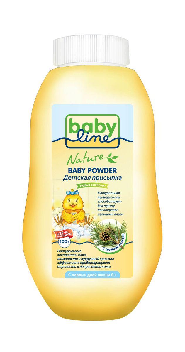BabyLine Nature Присыпка детская с сосновой пыльцой 125 гDN 81Детская присыпка с сосновой пыльцой BabyLine Nature рекомендована для чувствительной кожи вобласти подгузника. Присыпка содержит натуральную пыльцу сосны, что способствует быстромупоглощению влаги. Натуральные экстракты алоэ, жимолости и кукурузный крахмал мягкозаботятся и предотвращают опрелости и покраснения кожи.Товар сертифицирован.