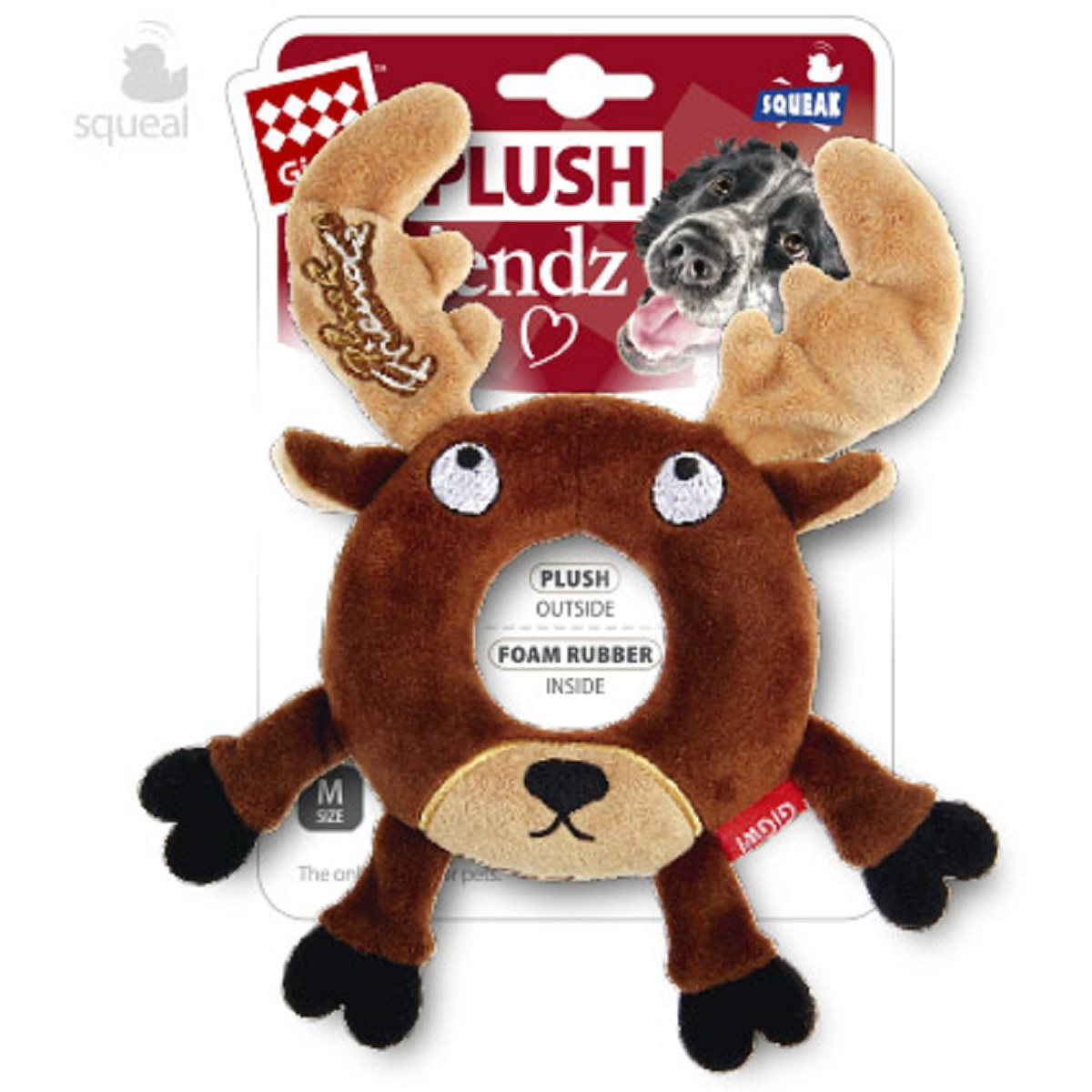 Игрушка для собак GiGwi Лось с пищалкой, 19 см bearington лось 25 см bearington