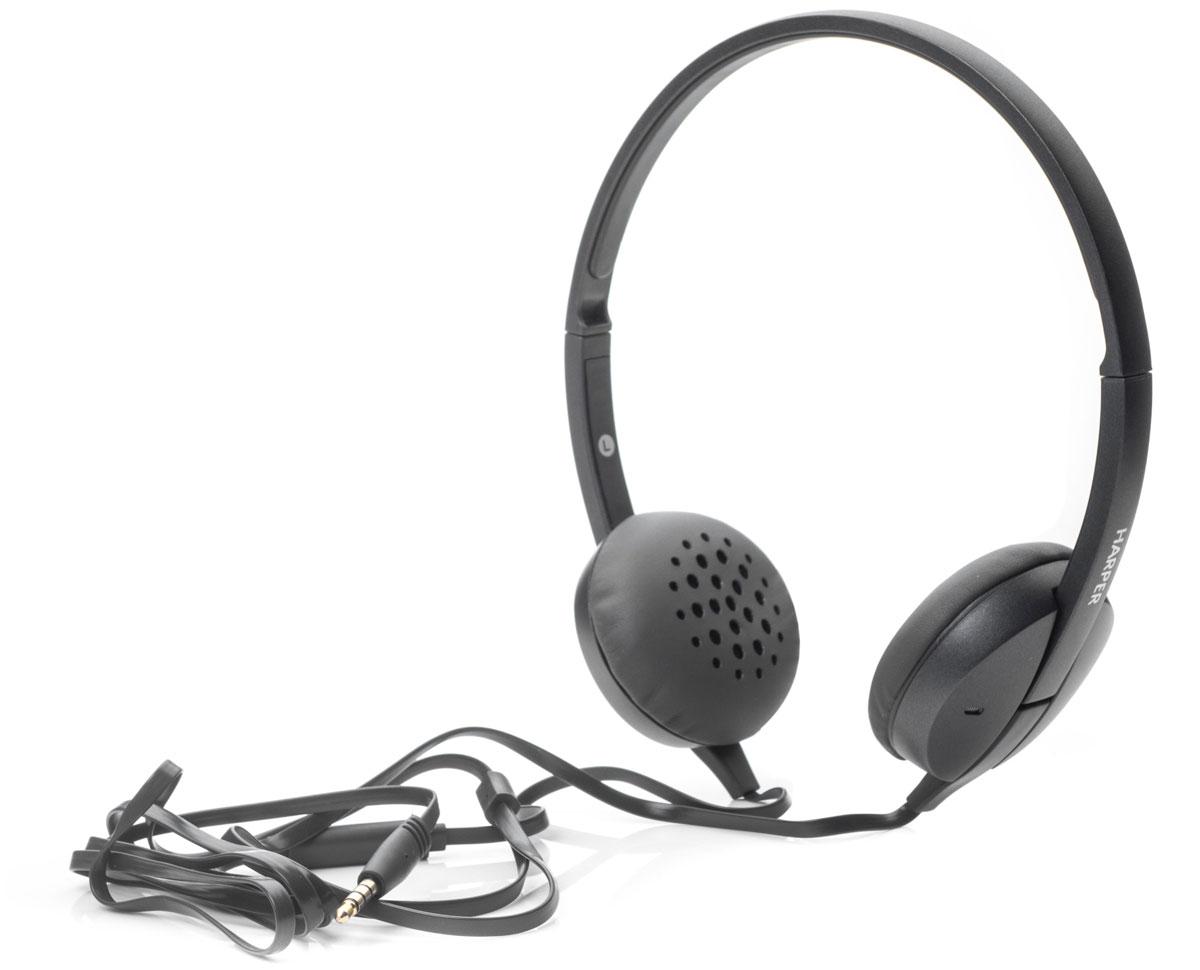 Harper HN-300, Grey наушникиH00000641Накладные наушники Harper HN-300 с микрофоном. Модель очень легкая, с превосходным качеством звука. Плоский кабель длиной 1,2 метра идеально подходит для использования на улице. Встроенный пульт и микрофон для быстрого переключения между музыкой и вызовами.