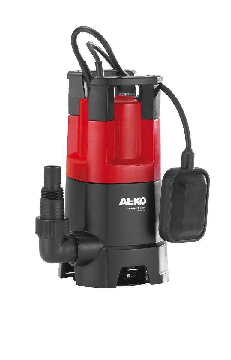 Насос погружной AL-KO Drain 7500 Classic112822Мощный, удобный и надежный погружной насос AL-KO Drain 7500 Classic предназначен для перекачивания грязной воды. Не требующий технического обслуживания двигатель, стальной вал двигателя со специальной обработкой и корпус из полипропиленового стеклопластика гарантируют длительный срок службы изделия. Благодаря большим входным отверстиям насосы DRAIN могут без труда перекачивать воду с частицами грязи и взвешенными частицами диаметром до 30 мм. Гарантированная пропускная способность за счет особой воронкообразной геометрии рабочего колеса.Вид привода: электрический.Длина кабеля: 10 м.Мощность: 450 Вт.Максимальная глубина погружения: 5 м.Максимальная высота всасывания: 6 м.Максимальный объем подачи: 7500 л/час.Максимальный размер взвешенных частиц: 30 мм.Диаметр выходного отверстия: 1,25.