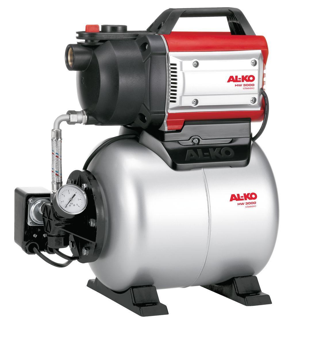 Станция насосная AL-KO HW 3000 Classic112845Насосная станция AL-KO HW 3000 Classic очень легко вводится в эксплуатацию. Надежный двигатель с защитой от перегрева не требует техобслуживания и гарантирует долгий срок службы. Благодаря компактной конструкции насосная станция займет немного места. Все детали, имеющие контакт с водой, выполнены из материалов, устойчивых к окислению и коррозии. Низкий уровень шума, надежность эксплуатации.Объем расширительного бака: 17 л.Мощность: 650 Вт.Глубина забора воды: 8 м.Высота напора: 28 м.Максимальный объем подачи: 3100 л/час.Рабочий механизм насоса: 1-ступенчатый.Диаметр входного и выходного отверстий: G 1.