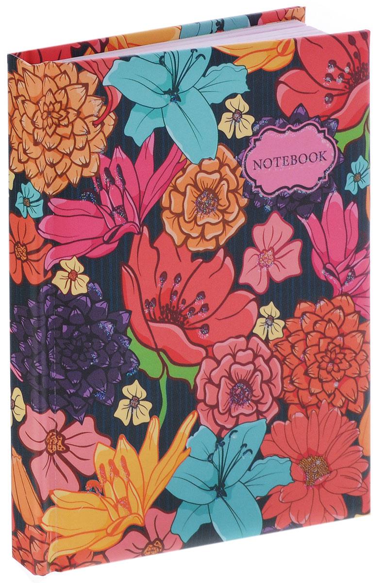 Listoff Записная книжка Цветочные мотивы 80 листов в линейкуКЗБ6801776Записная книжка Listoff Цветочные мотивы - важный атрибут современной женщины, необходимый для повседневных записей.Записная книжка содержит 80 листов формата А6 в линейку без полей. На обложке, выполненной из плотного картона с поролоновой подкладкой, изображен нежный рисунок в виде цветов. Блестки на обложке выделяют эту записную книжку из множества других. Внутренний блок изготовлен из высококачественной бумаги розового цвета. Книга для записей станет достойным аксессуаром среди ваших канцелярских принадлежностей. Она подойдет для любителей записывать свои мысли, делать наброски.