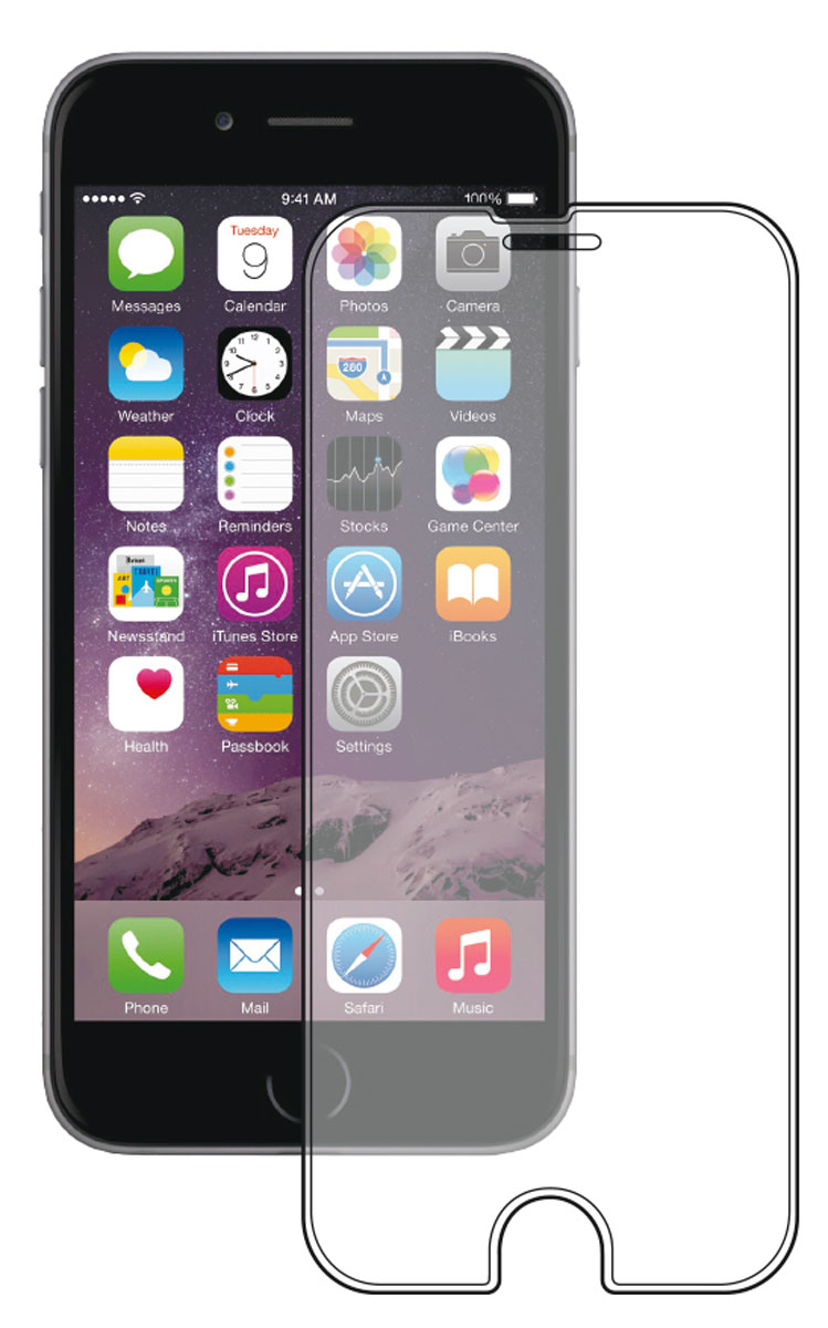 Deppa Gorilla защитное стекло для Apple iPhone 6/6s, Clear deppa защитное стекло для apple iphone 6 plus прозрачное и рамка для легкой установки 0 2 мм