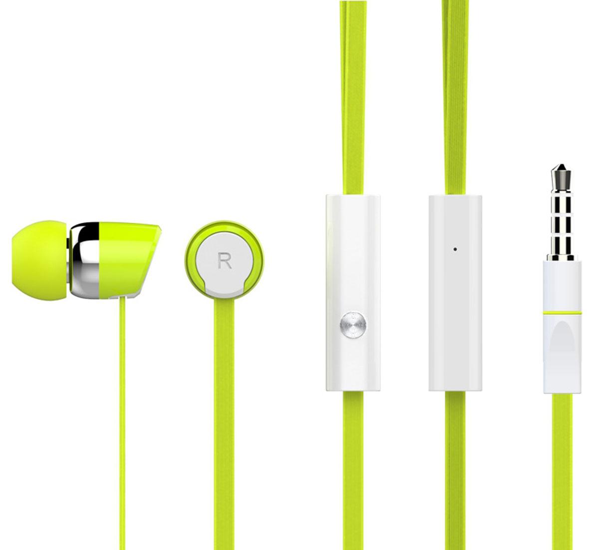 Harper Kids HV-104, Green наушникиH00000767Яркие и стильные наушники Harper Kids HV-104 с люминесцентным покрытием (светятся в темноте). Гарнитура имеет встроенный пульт и микрофон для быстрого переключения между музыкой и вызовами. Подключив её к своему смартфону или планшету вы сможете не только наслаждаться любимой музыкой, но и с легкостью ответить на звонок, не доставая гаджет. Гарнитура имеет плоский, эластичный и устойчивый к запутыванию кабель длиной 1,2 метра. В комплекте с наушниками идут мягкие силиконовые накладки 3-х размеров для максимального комфорта.