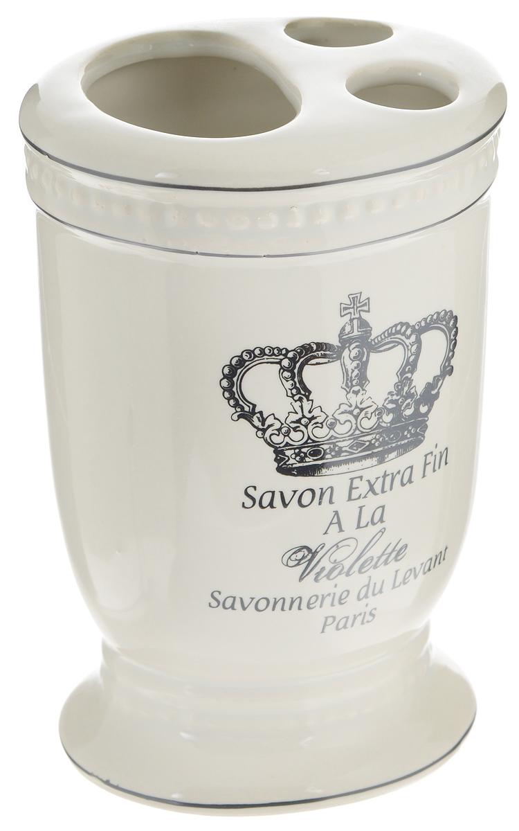 Стакан для зубных щеток Vanstore Корона стакан для зубных щеток touch белый