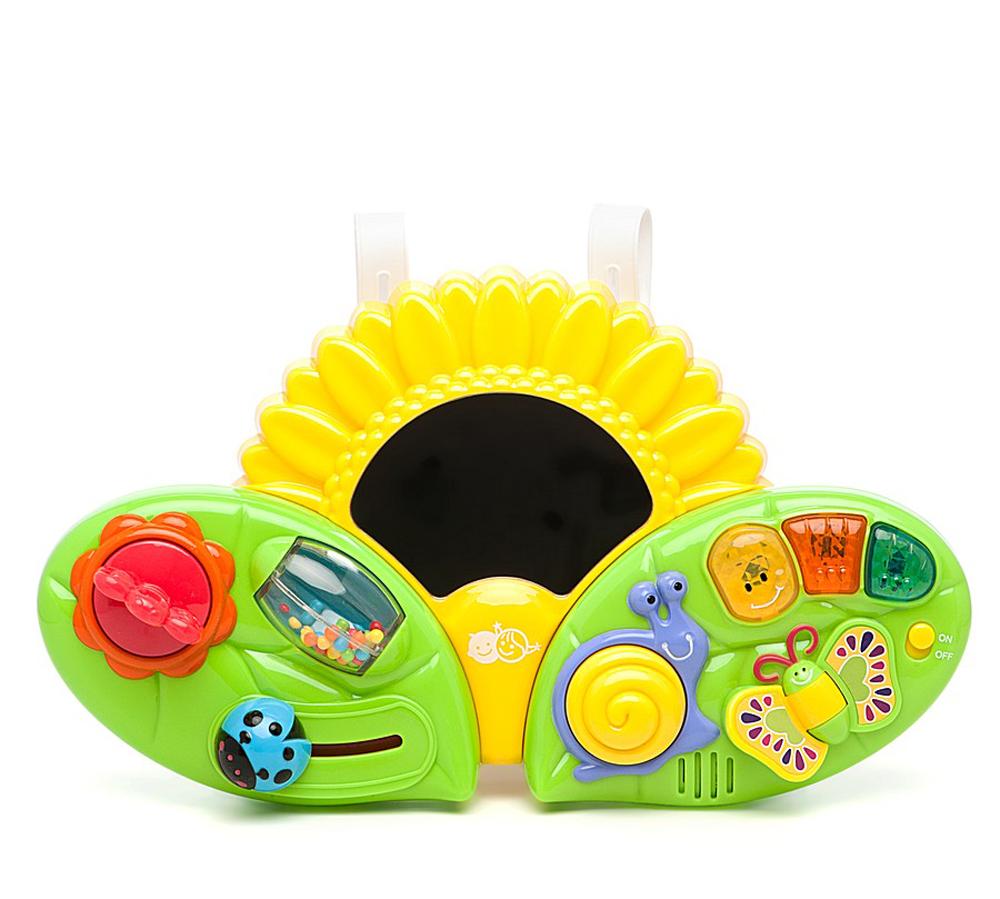 Playgo Развивающий центр Подсолнух на кроватку машинки hti паровозик roadsterz синий с вагоном звуковыми и световыми эффектами