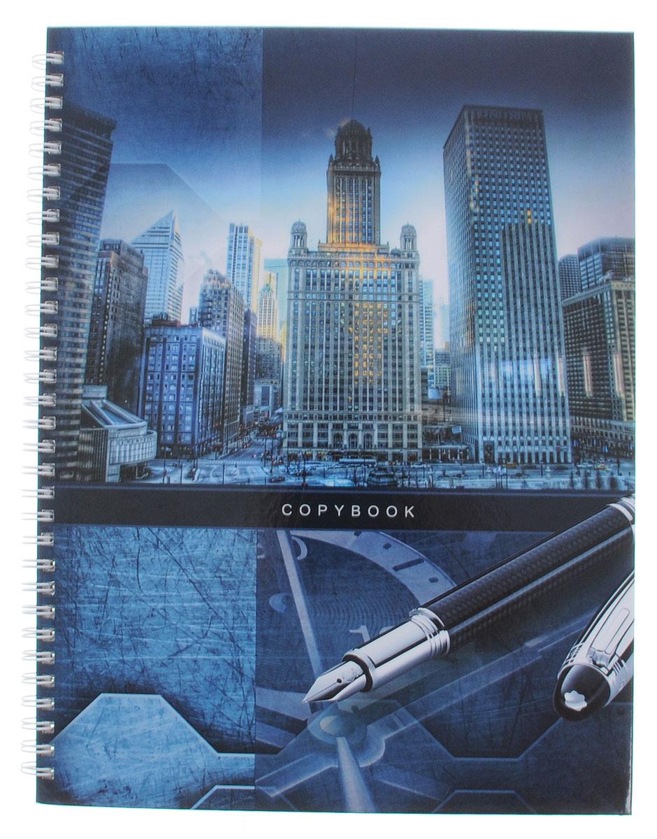 Listoff Тетрадь Большой город 100 листов в клетку формат А4 -  Тетради