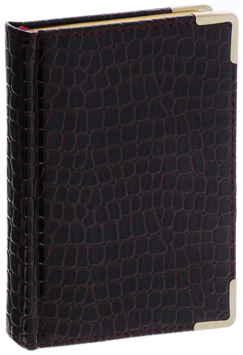 Listoff Записная книжка Iguana 96 листов в клетку цвет темно-бордовыйКЗК696119Записная книжка Listoff Iguana - незаменимый атрибут современного человека, необходимый для рабочих и повседневных записей в офисе и дома. Обложка выполнена из высококачественной искусственной кожи, с прострочкой по периметру и поролоновой подкладкой. Записная книжка имеет трехсторонний золотой обрез. Она содержит 96 листов в клетку.Записная книжка Listoff Iguana станет достойным аксессуаром среди ваших канцелярских принадлежностей. Она пригодится как для деловых людей, так и для любителей записывать свои мысли, писать мемуары или делать наброски новых стихотворений.