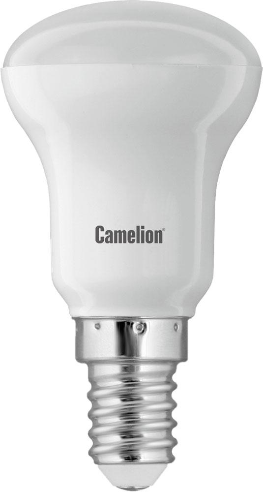 Светодиодная лампа Camelion LED3.5-R39/830/E1410934Светодиодная лампа Camelion применяется для замены энергосберегающей лампы или лампы накаливания в точечных и направленных источниках света. Эта лампа обладает высоким индексом цветопередачи и не мерцает, что делает ее свет комфортным для глаз. Нагрев LED лампы минимален, что позволяет использовать ее в натяжных потолках и других конструкциях, требовательных к температурному режиму. При производстве светодиодных ламп не используются вредные вещества, в том числе ртуть, поэтому не требует утилизации. Цоколь: E14 Мощность: 3,5 ВтЭквивалент ЛН: 40 Вт Световой поток: 275 ЛмСрок службы: 40000 чТип лампы: светодиодная Напряжение: 220 VПокрытие колбы: FR/матированная Тип трубки/колбы: R39 Размеры: 65 x 39 Цветовая температура: 3000