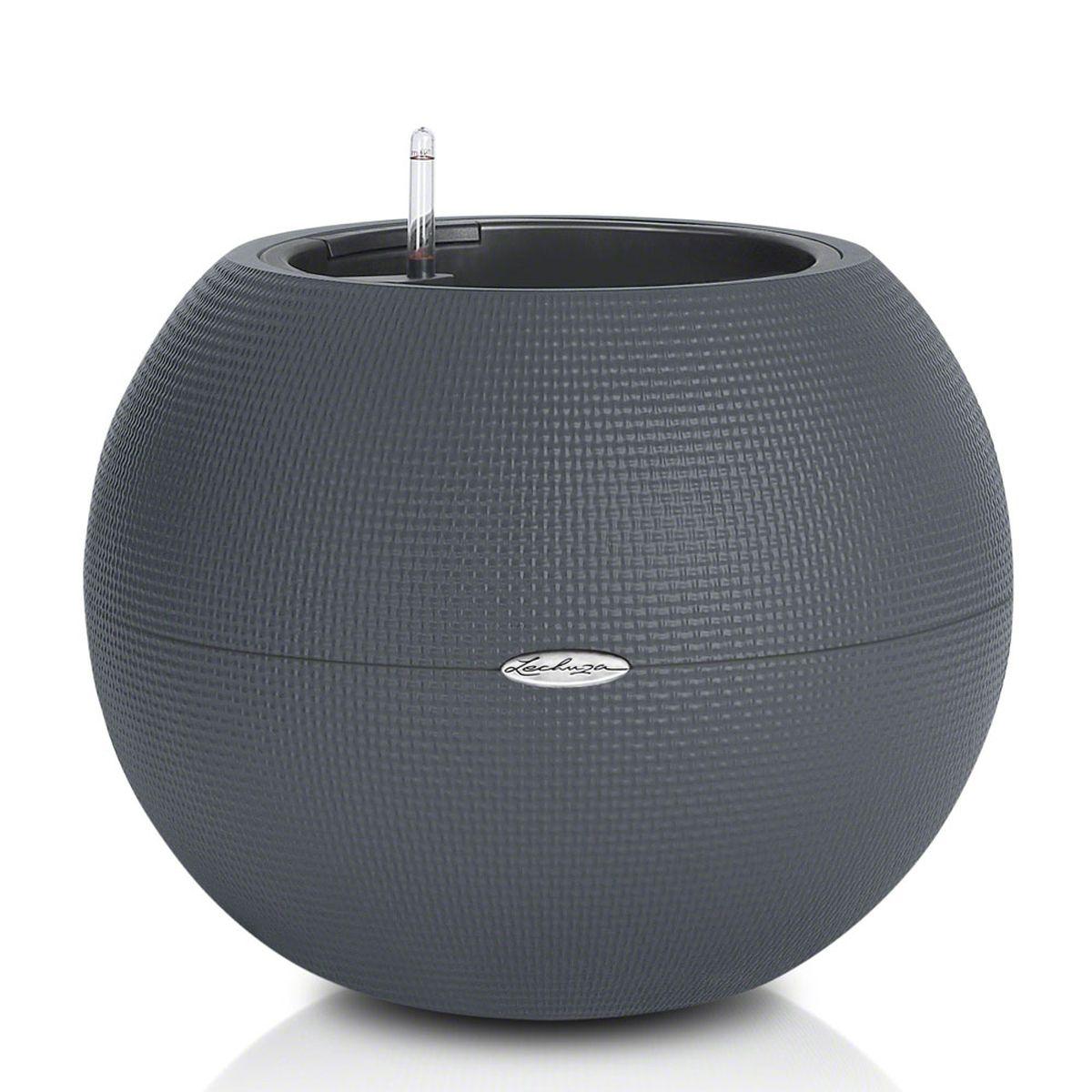 """Кашпо Lechuza """"Color Puro"""", с системой автополива, цвет: серый, диаметр 50 см"""