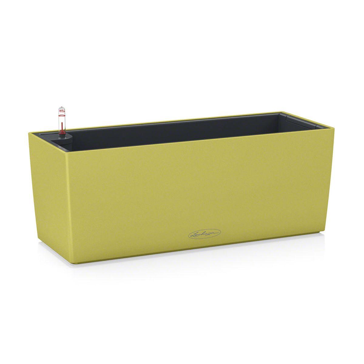 "Кашпо Lechuza ""Balconera Color"", с системой автополива, цвет: фисташковый, 50 х 19 х 19 см"