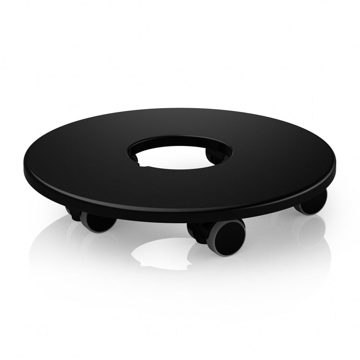 Подставка Lechuza для кашпо диаметром 50 см, на колесах, цвет: черный подставки для кашпо