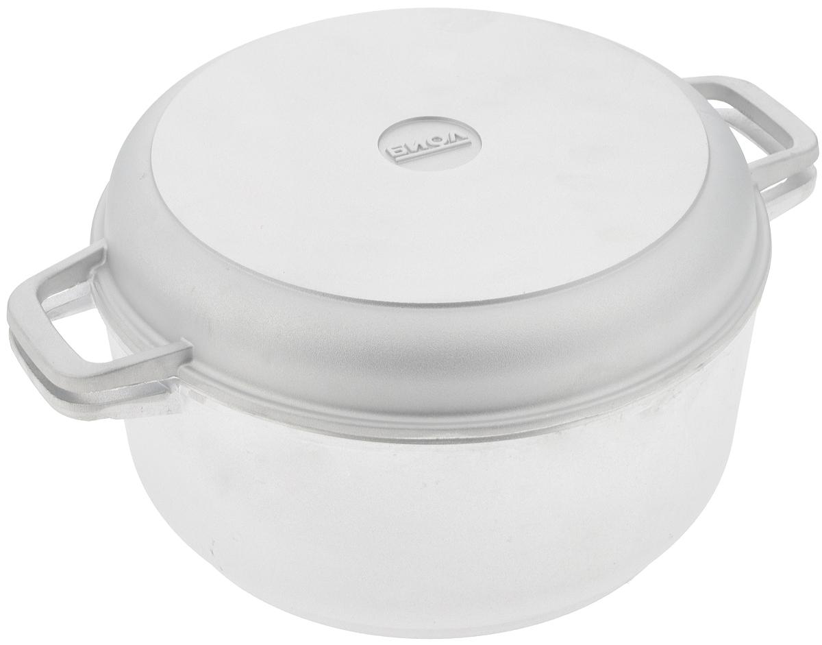 Кастрюля Биол с крышкой-сковородой, 5 л кастрюли биол набор посуды 260 3 кастрюля 5 л и сковорода 26 см со стекл крышкой биол