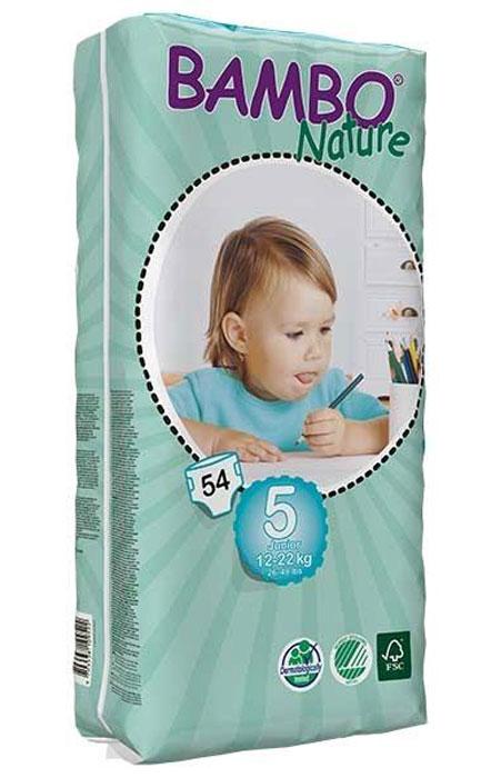Bambo Nature Подгузники детские одноразовые  Junior , 12-22 кг, 54 шт - Подгузники и пеленки