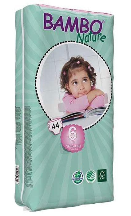Bambo Nature Подгузники детские одноразовые 16-30 кг (размер 6) 44 шт - Подгузники и пеленки