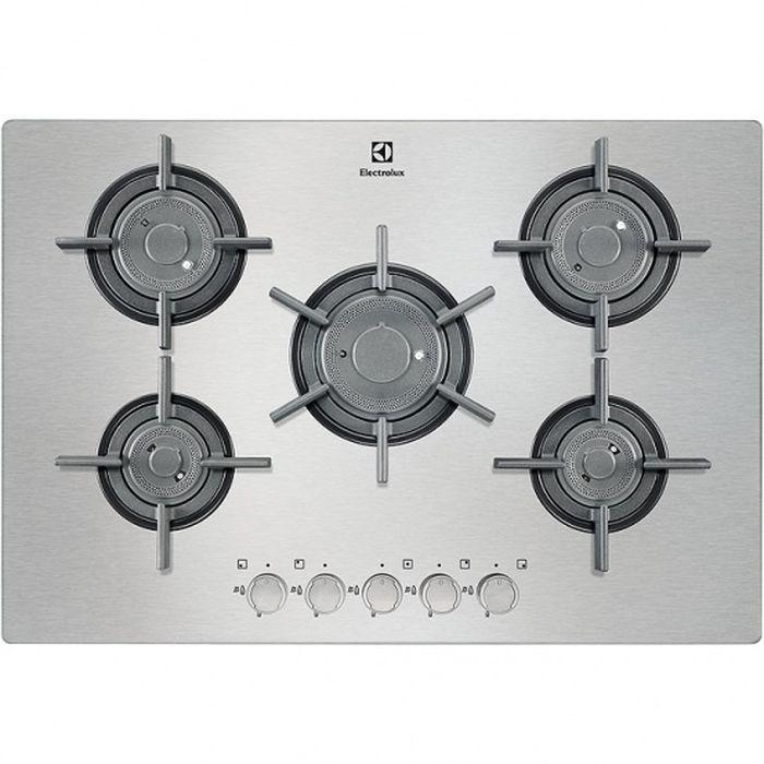 Electrolux EGU97657NX газовая варочная панель kitchenaid миксер планетарный artisan 4 8л серебристый по контуру 5ksm125ecu kitchenaid