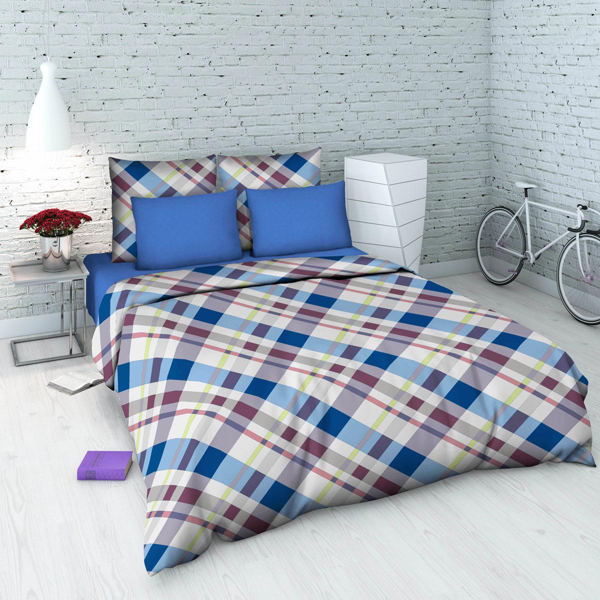 Комплект белья Василиса, 1,5-спальный, наволочки 70х70, цвет: голубой, белый. 5345_1/1,55345_1/1,5Комплект постельного белья Василиса состоит из пододеяльника, простыни и двух наволочек. Белье изготовлено из бязи (100% хлопка) - гипоаллергенного, экологичного, высококачественного, крупнозакрученного волокна. Использование особо тонкой пряжи делает ткань мягче на ощупь, обеспечивает легкое глажение и позволяет передать всю насыщенность цветовой гаммы. Благодаря более плотному переплетению нитей и использованию высококачественных импортных красителей постельное белье выдерживает до 70 стирок. На ткани не образуются катышки. Способ застегивания наволочки - клапан, пододеяльника - отверстие без застежки по краю изделия с подвернутым краем.Приобретая комплект постельного белья Василиса, вы можете быть уверены в том, что покупка доставит вам удовольствие и подарит максимальный комфорт.Советы по выбору постельного белья от блогера Ирины Соковых. Статья OZON Гид