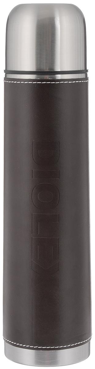 Термос Diolex, 1 л. 1000-1-DXL1000-1-DXLТермос Diolex изготовлен из высококачественной нержавеющей стали с матовой полировкой. Двойная колба из нержавеющей стали сохраняет напитки горячими до 12 часов, а холодными до 24 часов. Изделие оснащено вставкой из искусственной кожи, которая обеспечивает надежный захват. Термос еще удобен и тем, что нет необходимости полностью откручивать пробку. Чтобы налить напиток, просто нажмите кнопку. Крышку можно использовать в качестве кружки, ее внутренняя поверхность изготовлена из пластика, гигиенична и легка в очистке. Удобный, компактный и практичный термос пригодится в путешествии, походе и поездке. Диаметр горлышка: 5 см. Диаметр основания термоса: 8 см. Высота термоса: 33 см.