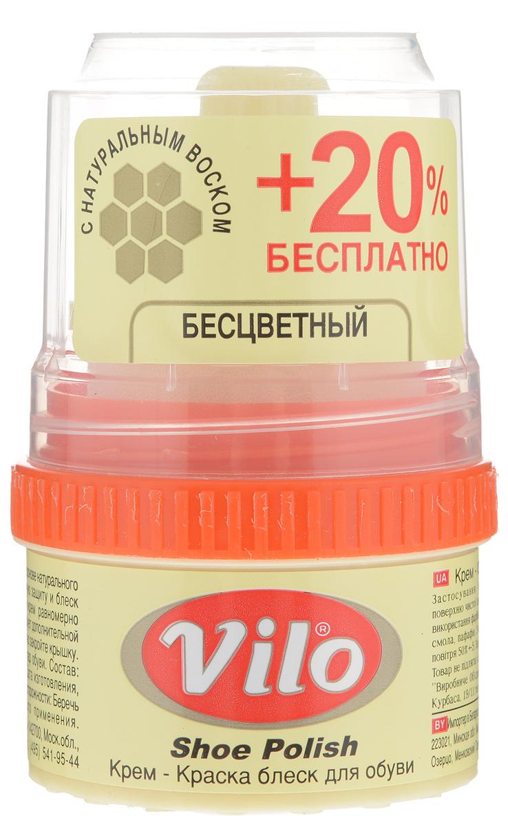 Крем-краска для обуви Vilo, с аппликатором, цвет: прозрачный, 60 мл17581Крем-краска с аппликатором Vilo выполнен на основе натурального пчелиного воска и обеспечит надежную защиту и блеск для обуви. Крем необходимо наносить равномерно тонким слоем на чистую кожу. Он не требует дополнительной полировки. Одна упаковка окрасит 50 пар обуви. Состав: парфюм, парафин, воски, пигмент, смолы.Размер аппликатора: 4 х 3 х 4,5 см.Объем: 60 мл.