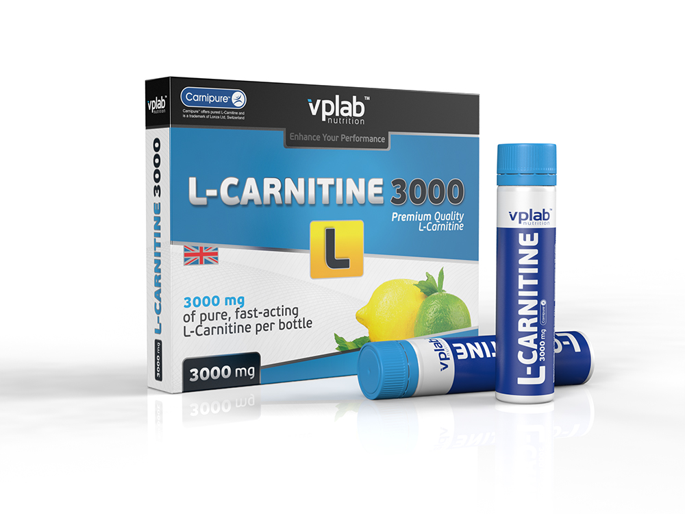Карнитин VPLab L-Carnitine 3000, 7 ампул х 25 мл l карнитин qnt 3000 25 мл 20 ампул