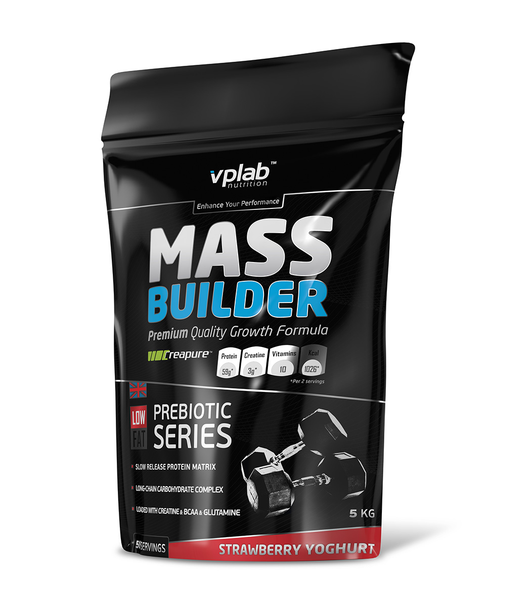"Гейнер VPLab ""Mass Builder"", клубника, 5 кг, VPLAB Nutrition"