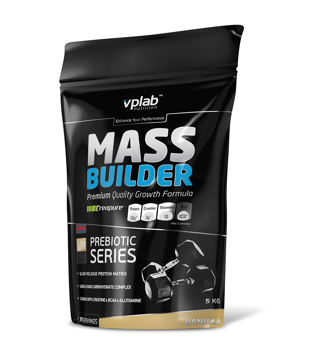 "Гейнер VPLab ""Mass Builder"", ваниль, 5 кг, VPLAB Nutrition"