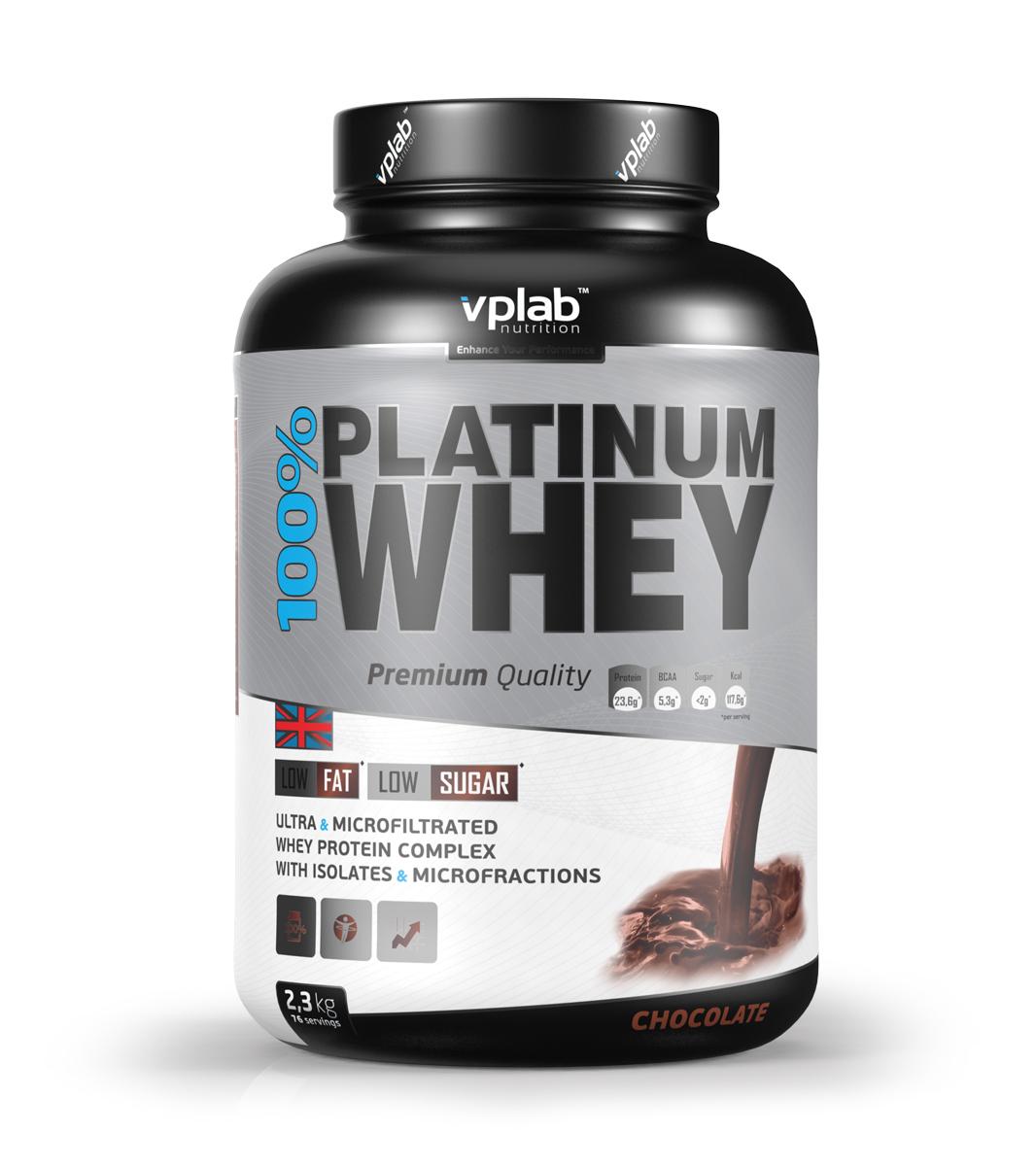 "Протеин VPLab ""100% Platinum Whey"", шоколад, 2,3 кг, VP Laboratory"
