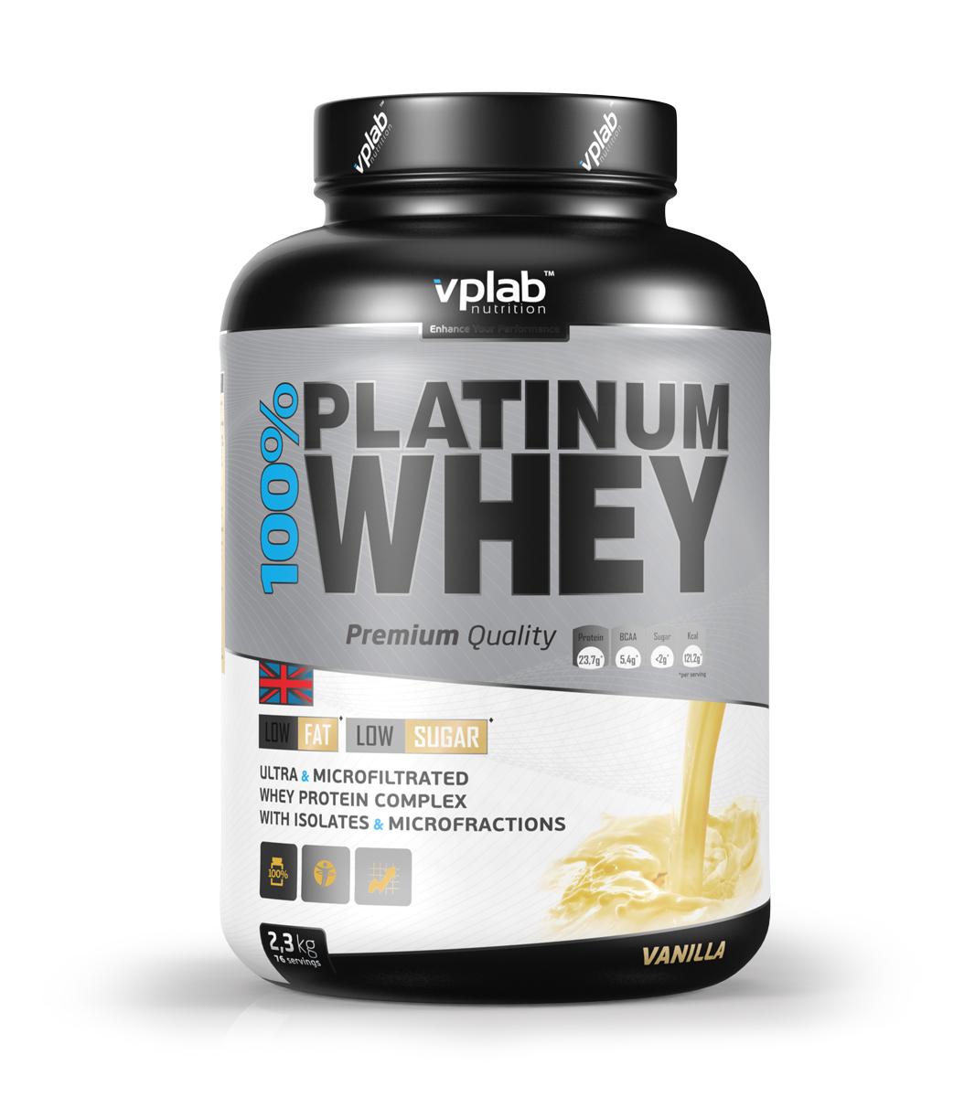 "Протеин VPLab ""100% Platinum Whey"", ваниль, 2,3 кг, VP Laboratory"