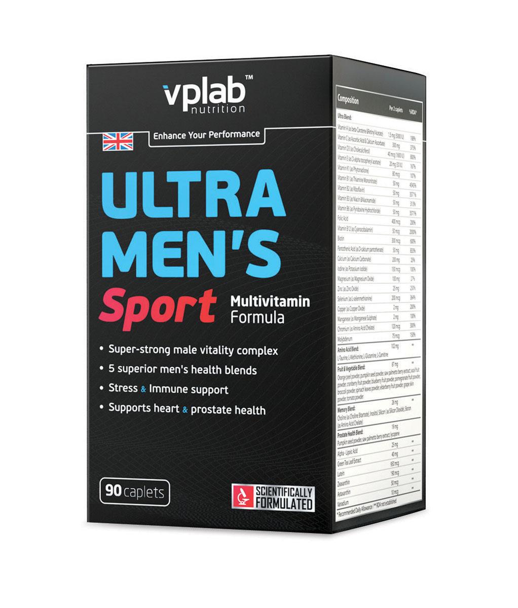 Витаминно-минеральный комплекс для мужчин Vplab Ultra Men's Sport Multivitamin Formula, 90 капсул ultra womens витамины vplab инструкция