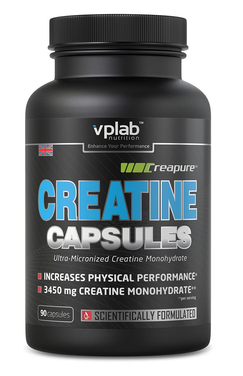 Креатин моногидрат Vplab Creatine Capsules, 90 капсулV70416Креатин моногидрат Vplab Creatine Capsules является самой эффективной и выгодной формой креатина. Он отлично усваивается (большая его часть достигает мышц в неизменной форме), и способствует увеличению мышечной массы, силы и выносливости.Питательная ценность на 100 г: энергетическая ценность - 40.0 ккал (168.0 кдж), белки - 9.6 г, жиры - 0.4 г, из них насыщенные жирные кислоты - 0,4 г, соль - 0.10 г, Моногидрат креатина - 87.5 г, из которого креатина - 77.0 г.Рекомендации по применению: 1 порция в день в течение 6 недель. Потом сделайте перерыв на 2-4 недели.Товар сертифицирован.Как повысить эффективность тренировок с помощью спортивного питания? Статья OZON Гид