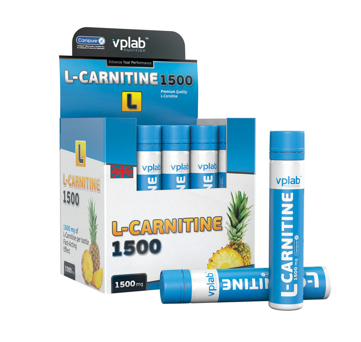 Карнитин VPLab L-Carnitine 1500, 20 ампул х 25 мл vp laboratory vp laboratory fitactive l carnitine fitness drink 500гр page 2