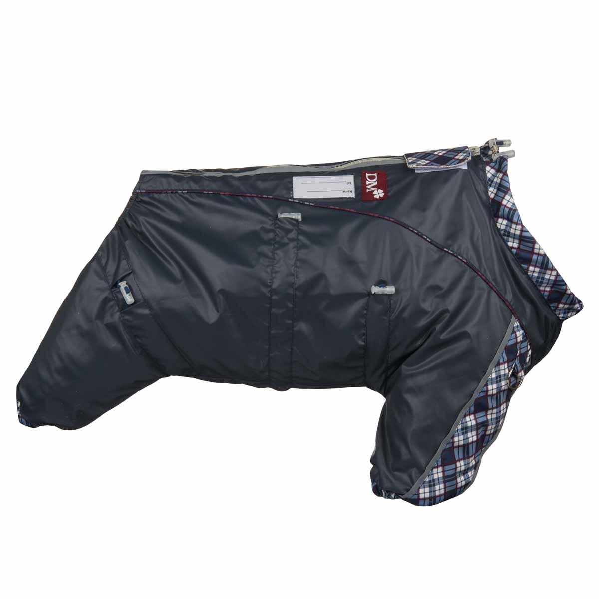 Комбинезон для собак Dogmoda DOGGS с подкладкой, для мальчика, цвет: №70 серо-синий