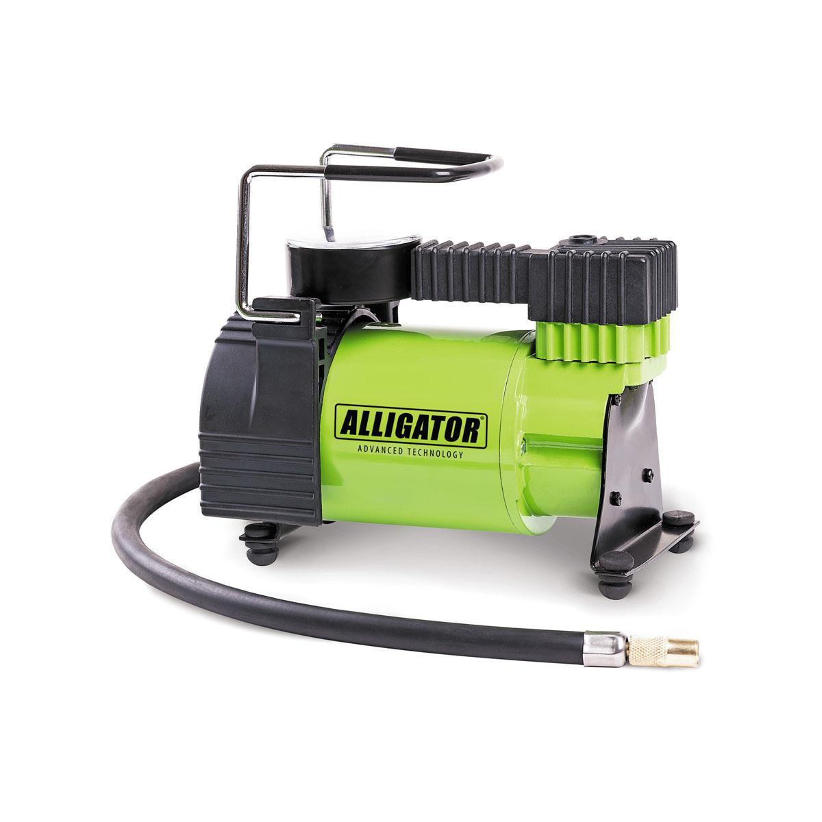 Компрессор автомобильный Автопрофи Аллигатор, 12В, 120 Вт. AL-350AL-350Автомобильный компрессор Автопрофи Аллигатор выполнен из высококачественного металла. В комплекте переходники для накачки надувных изделий. Питание осуществляется от бортовой сети 12В. Компрессор может непрерывно работать в течение 20 минут.В комплекте сумка для удобной переноски и хранения. Напряжение: 12В. Мощность: 120 Вт. Производительность: 30 л/мин. Максимальное давление 10 АТМ. Длина кабеля питания: 3 м. Длина шланга: 70 см. Время непрерывной работы: 20 минут. Диаметр поршня: 30 мм.Рабочая температура: от -20°С до +50°С.Максимальный ток: 14 А.