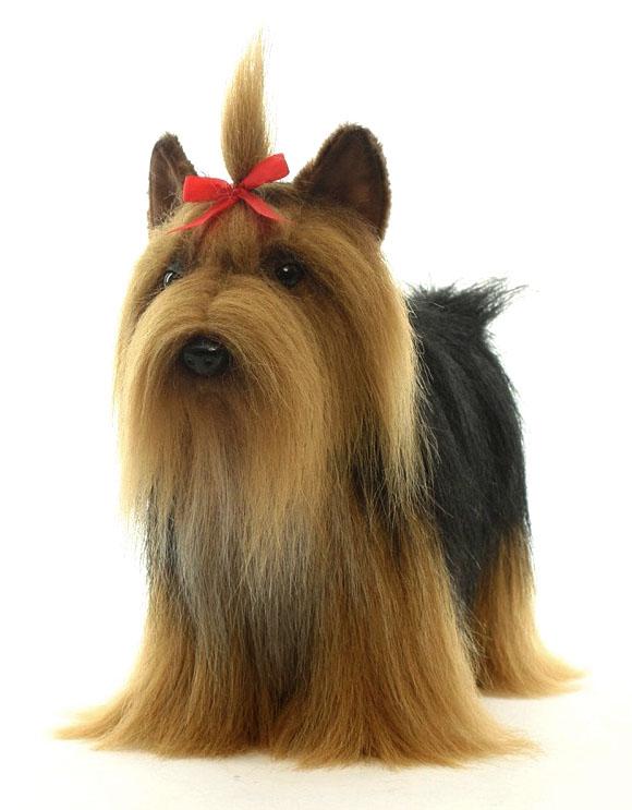Hansa Мягкая игрушка Собака йоркширский терьер 36 см мягкая игрушка собака hansa йоркширский терьер искусственный мех коричневый 36 см 5909