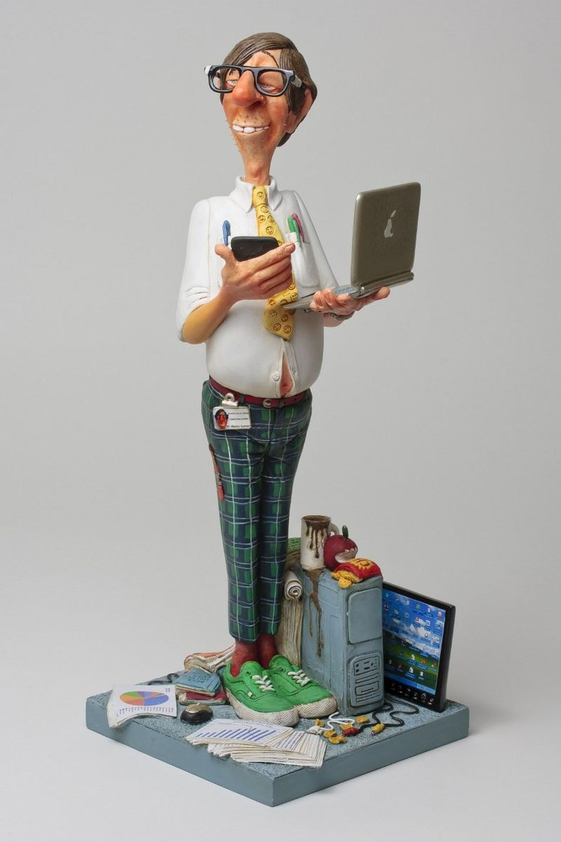 Статуэтка Gillermo Forchino Эксперт по Компьютерам статуэтки forchino статуэтка shelby cobra 427 s c