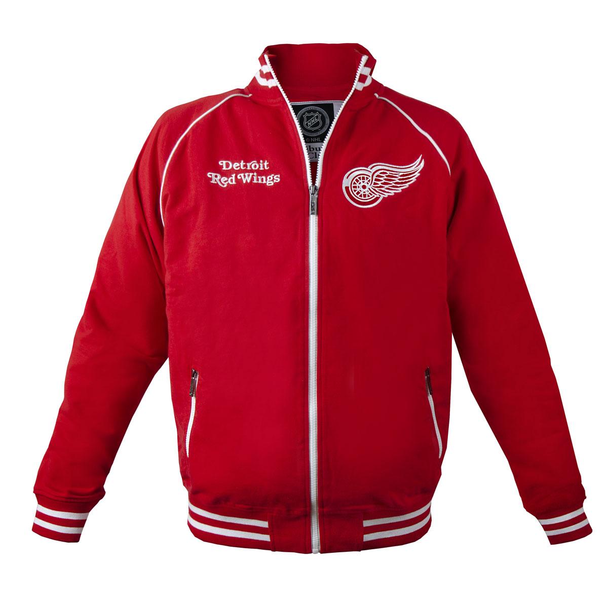 Толстовка мужская NHL Detroit Red Wings, цвет: красный. 35600. Размер S (46)35600Мужская толстовка NHL Detroit Red Wings, изготовленная из натурального хлопка, очень мягкая и приятная наощупь, не сковывает движения, обеспечивая наибольший комфорт.Толстовка с небольшим воротником-стойкой и длинными рукавами-реглан застегивается на молнию по всей длине. Снизумодели предусмотрена широкая мягкая резинка, которая предотвращает проникновение холодного воздуха.Рукава дополнены эластичными манжетами. Спереди расположены два прорезных кармана на застежках-молниях. Изделие оформлено вышивками с названием хоккейного клуба Detroit Red Wings и его эмблемой.Стильная толстовка подарит вам комфорт и станет отличным дополнением к вашему гардеробу.