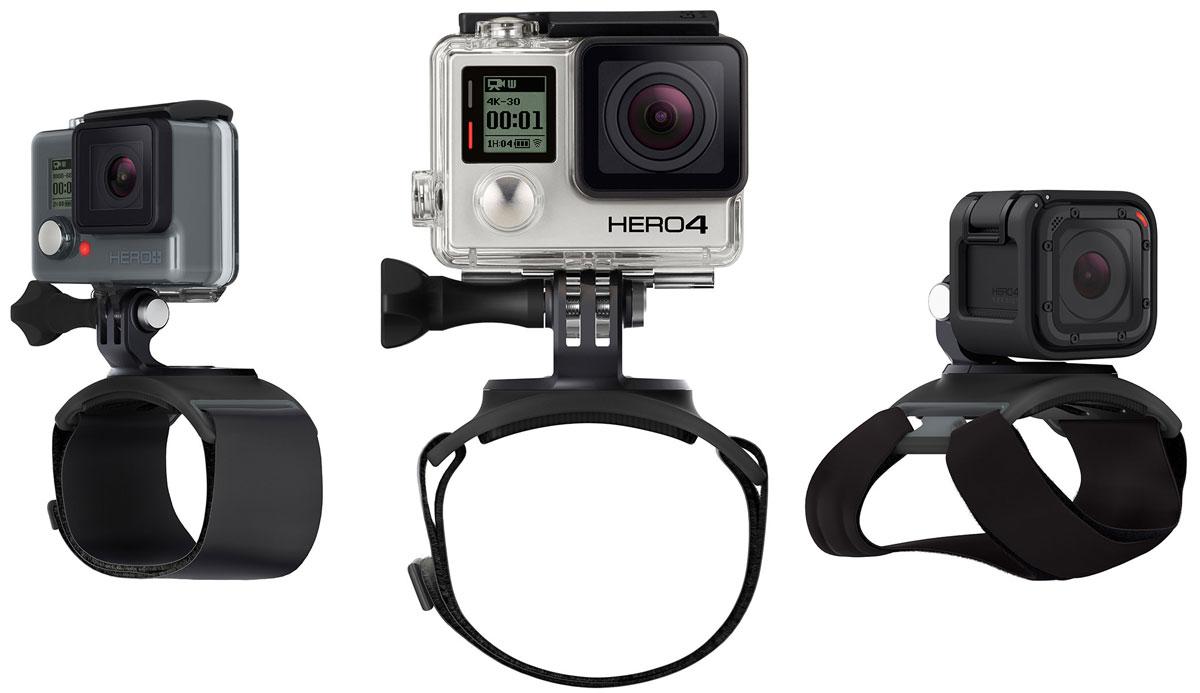 GoPro The Strap крепление-ремешокAHWBM-001GoPro The Strap подходит, как для крепежа на руку, так и на плечо и ногу, чтобы освободить руки для невероятныхкадров в движении и неповторимых селфи-кадров. С помощью крепления The Strap, камера способна вращатьсявокруг себя на все 360°, а также наклонятся вперед и назад, что позволит вам настроить угол съемки в любомдвижении и на любой скорости. Крепление на руку идеально подходит для различного рода занятий и полностьюрегулируется, чтобы соответствовать широкому спектру размеров.