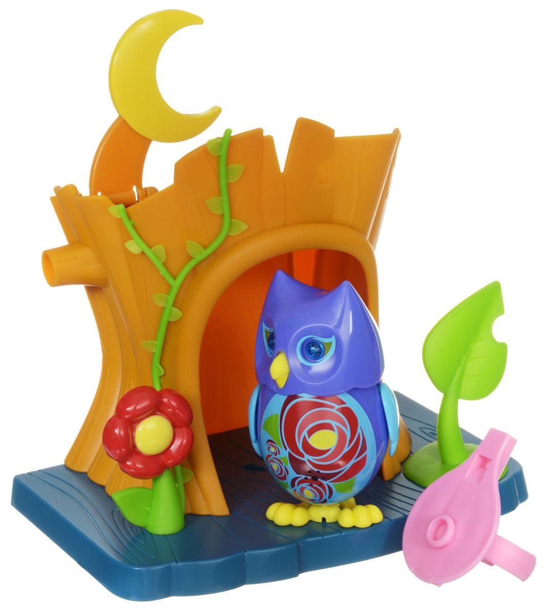DigiFriends Интерактивная игрушка Сова с домиком цвет фиолетовый голубой digifriends интерактивная игрушка пингвин с кольцом цвет фиолетовый