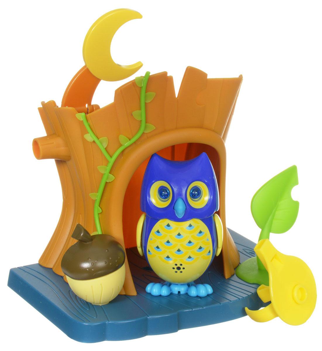 DigiFriends Интерактивная игрушка Сова с домиком цвет синий желтый интерактивная игрушка digifriends аква крокодил в ассортименте