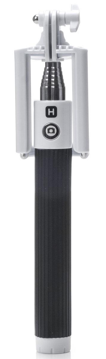 Harper RSB-105, Black монопод для селфиRSB-105 BlackHarper RSB-105 - ручной телескопический монопод для проведения фото и видеосъемки с кабелем 3,5 мм. Имеет максимальную длину 90 cм и 7 секций. Длина в сложенном состоянии составляет 20 см. Прочный стальной корпус гарантирует надежность монопода в повседневных условиях. Модель поддерживает мобильные операционные системы iOS 5/ Android 4.2 и выше.
