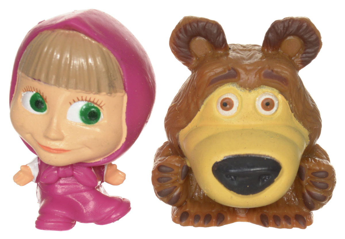 Маша и Медведь Фигурка-мялка Маша в платочке 2 шт фигурки игрушки маша и медведь кукла маша
