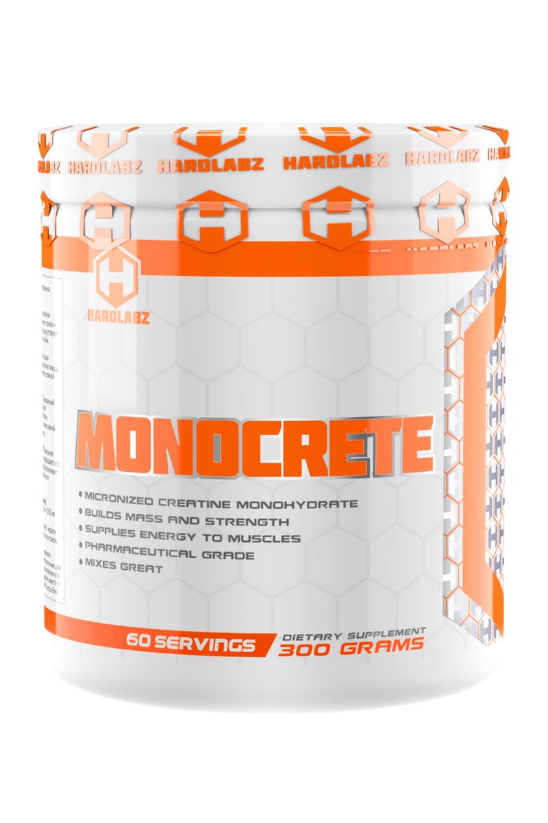 Креатин моногидрат Hardlabz Monocrete, 300 г4627121420218Креатин Hardlabz Monocrete на 100% натурален. Наш организм естественным образом вырабатывает это вещество в печени, почках и поджелудочной железе. Высокие концентрации креатина присутствуют во многих продуктах питания, например, в красном мясе и рыбе. Но при увеличении физической нагрузки расход креатина увеличивается и рекомендуется пополнять запасы креатина с помощью креатиносодержащих добавок, особенно атлетам силовых видов спорта. Креатин поставляет энергию нашим мышцам. Он передается через кровоток. Как только он достигнет мышц, он преобразуется в креатинфосфат, который регенерирует основной источник энергии мышц – ATФ (аденозинтрифосфат). Повышенный уровень ATФ позволяет телу работать интенсивнее и дольше! Исследования креатина показывают, что эта добавка наиболее эффективна при повторяющихся коротких промежутках интенсивной физической нагрузки, например, при силовых тренировках. Креатин повышает выносливость, препятствует мышечному утомлению и болям в мышцах, помогает наращиванию мышечной массы и увеличению силы. Компания Hardlabz получает креатин фармацевтического качества и подвергает его процессу микронизации для эффективного усвоения и более быстрой отдачи от приема. Для еще лучшего усвоения в Monocrete были добавлены полимеры глюкозы, которые служат транспортной системой доставки креатина к мышцам. Научное исследование показало, что у атлетов, принимающих комбинацию креатин + углеводы не только на 50% повысилось усвоение креатина мышечными клетками, но и улучшилось формирование мышечного гликогена. Другое исследование показало, что при использовании креатина с транспортной системой, результаты тренировок выросли в среднем на 20-30% больше, чем при использовании чистого креатина. Кроме того, было замечено, что результаты улучшились даже у тех атлетов, организмы которых не реагируют на чистый креатин.Товар не является лекарственным средством.Товар не рекомендован для лиц младше 18 лет.Могут быть прот