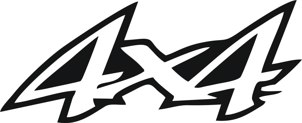 Наклейка автомобильная Оранжевый слоник 4х4. 2, виниловая, цвет: черный