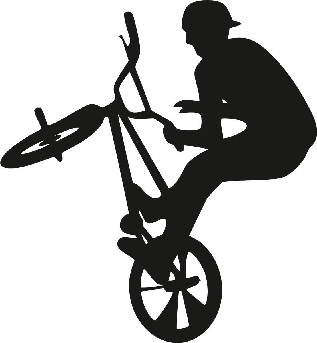 Наклейка автомобильная Оранжевый слоник Велосипедист, виниловая, цвет: черный150SP00029BОригинальная наклейка Оранжевый слоник Велосипедист изготовлена из высококачественной виниловой пленки, которая выполняет не только декоративную функцию, но и защищает кузов автомобиля от небольших механических повреждений, либо скрывает уже существующие.Виниловые наклейки на автомобиль - это не только красиво, но еще и быстро! Всего за несколько минут вы можете полностью преобразить свой автомобиль, сделать его ярким, необычным, особенным и неповторимым!